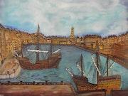 Vaisseaux dans le port de bristol 1497.