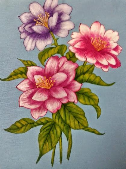 Flor en tela. Pilar M. Pilar