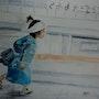 En route pour l'école au japon. Yokozaza