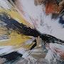 Peinture abstraite composition105. Bernard Ochietti