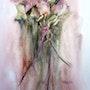 Le bouquet de roses a l'aquarelle. Yokozaza