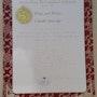 Certificat fine art price a kobe japon.. Claude Sauvage