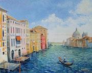 Venise, Le grand canal et la Salute.