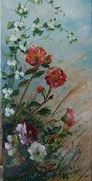 Camelias roses et symhorines.