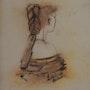 Portrait de femme. Mechile Hb