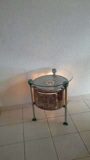 Table basse tambour «écolo». Henrim