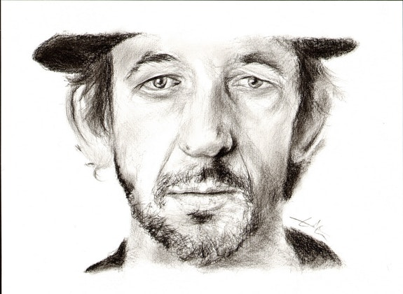 Arthur h, portrait au fusain du 051214. Philippe Flohic Philippe Flohic