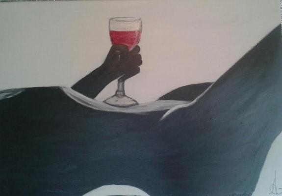 Wine more time… Nu noir et blanc feminin.. Aurore Rosete Aurore Rosete