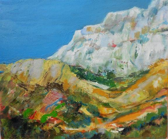 Hommage à Cézanne - Montagne Sainte Victoire. Monique Malbert Monique Malbert