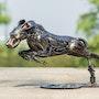 Rocket Dog Metal art sculpture. Mari9Art