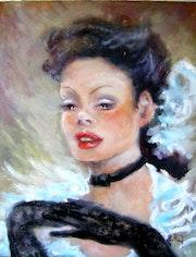 Jeune femme aux gants noirs.