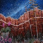 Chisos Canyon/ Chisos canyon in Big Bend National Park in south Texas. Mike Ross Original Oils