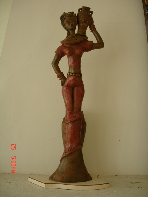 Statue Africaine. Nelly Texier Texier Nelly