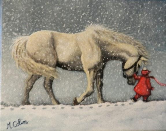 Sous la neige. Marie Colin Marie Colin