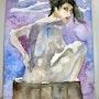 Le bain, femme nue dans son bain. Yokozaza