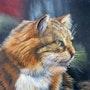 Portrait de chat. Virginie Trabaud