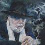 Le cigare aux pinceaux. Dany Wattier