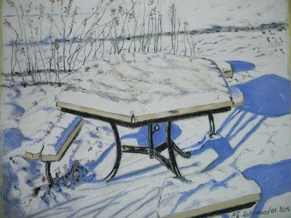 Cette nuit, il a neigé sur le petit square.. Françoise-Elisabeth Lallemand Françoise-Elisabeth Lallemand