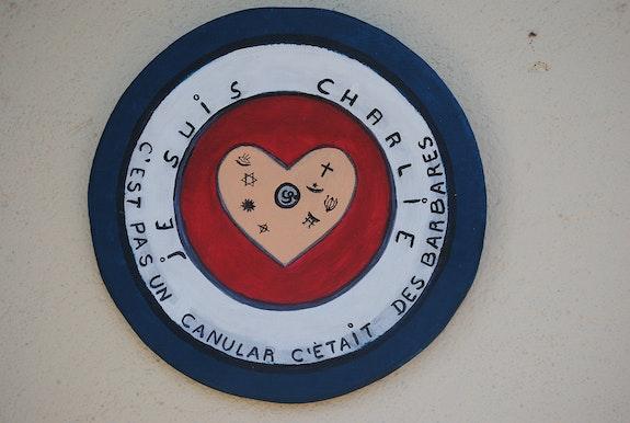 Je suis charlie création 11 janvier 2015. Mouvement rondisme.. Claude Sauvage. Claude Sauvage