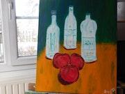 Trio de bouteilles d'eau transparentes.