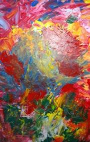 Le bouquet abstrait en acrylique. Nohallel