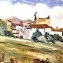 Entée de village du Roussillon. Sergio