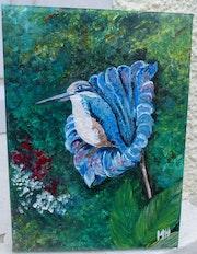 Le colibri / acrylique sur toile. Mariraff