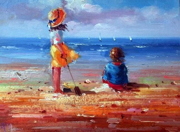 Enfants a la plage. Gilbert De St Amans Gilbert De St Amans