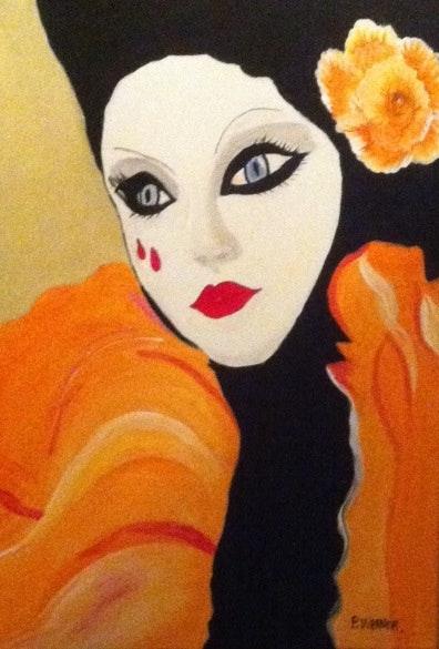 Visage masqué. Patricia Wagner Patricia Wagner