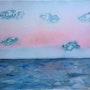 Aurore sur l'océan. Lyne Le Grand