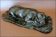 Le repos du chien. Marc Menzoyan Antiquités