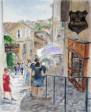 Saint-Émilion au mois d'août.