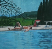 La piscine/Alain Delon/Film Jacques Deray. Niboz