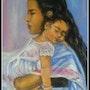 Maman bolivienne et son enfant. Joelle Bouriel