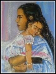 Maman bolivienne et son enfant.
