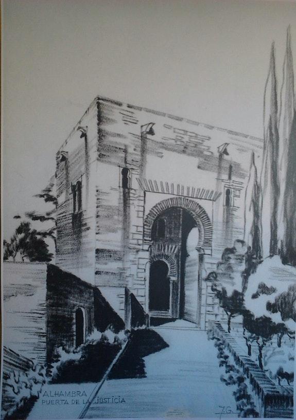 Alhambra. Puerta de la justicia.. Juan Garcia Natalia Zhbanova