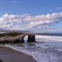 Contemplando el paisaje de mar. M. Pilar