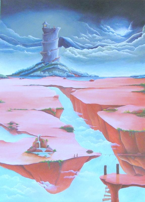 Témoin d'un monde - Peinture acrylique. Posyart Posy