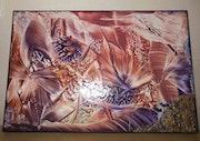 Acrylique & pigments//toile 3d - Original signé «nila» - 1 exemplaire - 70 X 50.