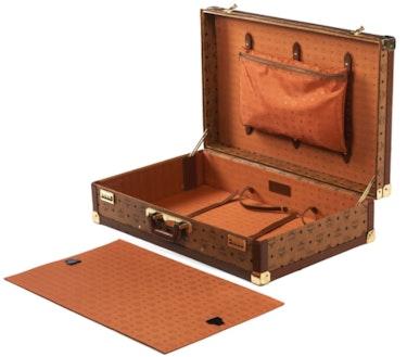 Großer M. C. M. Reisekoffer «Cognac Visetos», 50cm X 80cm X 20cm, gebraucht.. Thomas Kern
