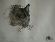 Peinture sous verre - Chat alors ! ! ! ! !.