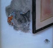 Peinture sous verre - Chat alors 2 ! ! ! ! !.