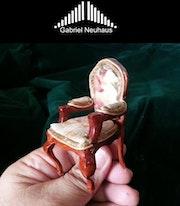 Silla Luis XV Miniatura. Escala 1:12.