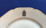 Seltener Porzellanteller Service König Caroll II von Rumänien, Wappen & Krone!.