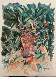 La dame aux Oliviers. Forangeart F. Baldinotti Peintre De l'air