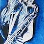 Bleu saxo. Jean Claude Ciutad-Savary. Artiste Peintre