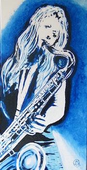 Bleu saxo.