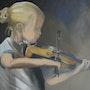 Camille au violon.