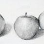Les trois pommes. L'atelier d'alexandra