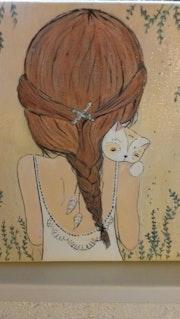 Petite japonaise et son chat.